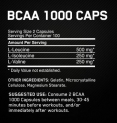 BCAA Mega-Size 1000mg. / 200 Caps.