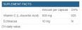 Vitamin C 500 + Echinacea / 125 Caps