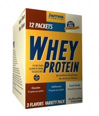 Jarrow Formulas Whey Protein 3 Flavor Variety Pack / 12 Packs.
