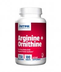 Jarrow Formulas Arginine + Ornithine / 100 Tabs.