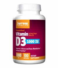 Jarrow Formulas Vitamin D3 1000IU / 100 Soft.