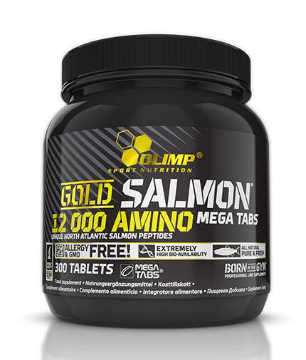 OLIMP Gold Salmon 12000 Amino Mega Tabs / 300 Tabs.