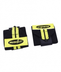 MUSCKIT Stripes Wrist Wraps / Yellow