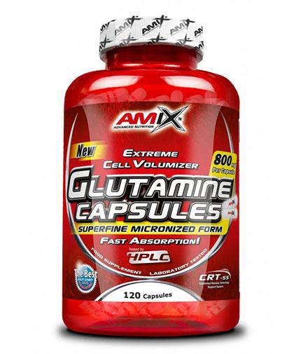AMIX L-Glutamine 800mg. / 120 Caps.