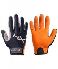 HARBINGER HUMANX X3 Competition Full Finger Gloves ORANGE / GREY