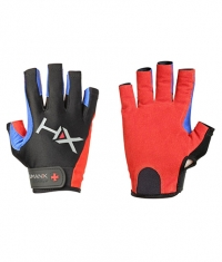 HARBINGER HUMANX X3 Competition Open Finger Gloves BLUE / RED