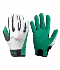 HARBINGER Women's X3 Competition Full Finger Gloves GREEN / WHITE