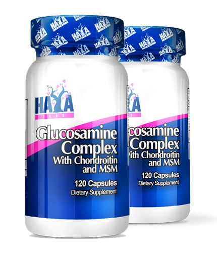 PROMO STACK HAYA LABS Glucosamine Chondroitin & MSM Complex 120 Caps x2