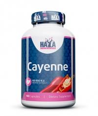 HAYA LABS Cayenne Pepper Extract 40000 H.U. / 100 Caps.