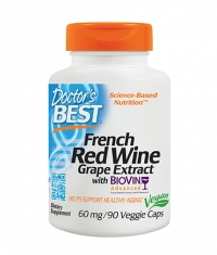 DOCTOR\'S BEST French Red Wine Grape Extract / 90 Vcaps.