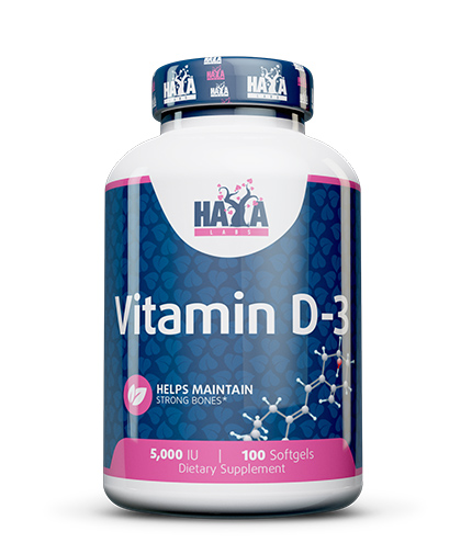 HAYA LABS Vitamin D-3 / 5000 IU / 100 Softgels