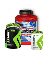 PROMO STACK MusclePharm Assault /NEW/ 800g. + MusclePharm Creatine 300g. + Amix Whey Pure Fusion 2kg. 0.000