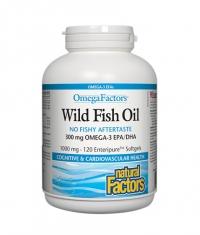 NATURAL FACTORS Wild Fish Oil 1000mg. / 120 Softgels