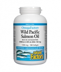 NATURAL FACTORS Wild Pacific Salmon Oil 1000mg. / 180 Softgels