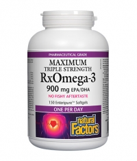 NATURAL FACTORS RX Omega 3 Extra Strength 900mg. / 150 Soft.