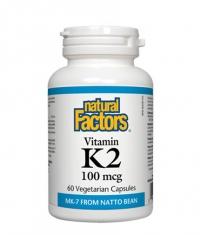 NATURAL FACTORS Vitamin K2 100mcg. / 60 Vcaps.