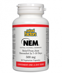NATURAL FACTORS NEM® (Natural Eggshel Membrane) 500mg./60Vcaps.