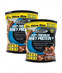 PROMO STACK MuscleTech Premium Whey Protein 5 Lbs. / x2