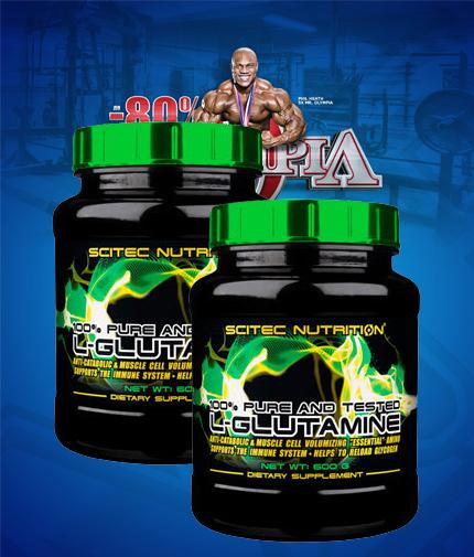 PROMO STACK Scitec L-Glutamine 600g. / x2
