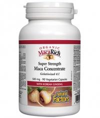 NATURAL FACTORS Organic MacaRich® / 500mg 90Vcaps.