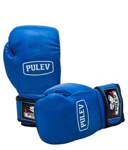 PULEV SPORT BLUE Velcro Boxing Gloves