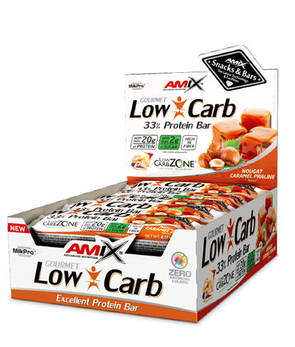amix LOW-CARB 33% PROTEIN BAR / 15x60g.