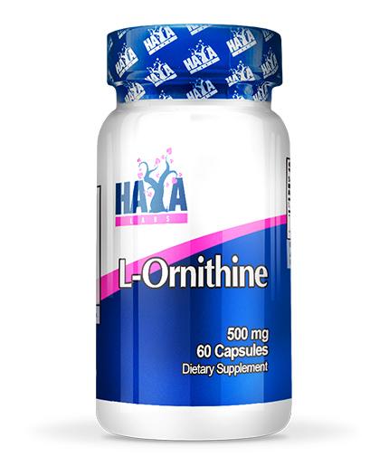 haya-labs L-Ornithine 500 mg / 60 Caps.