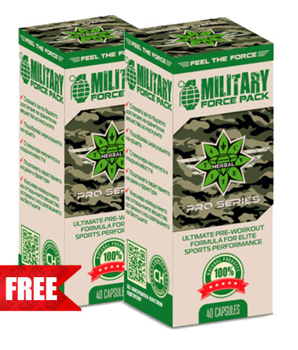 PROMO STACK CVETITA Military Force Pack 40 Caps. 1+1 FREE
