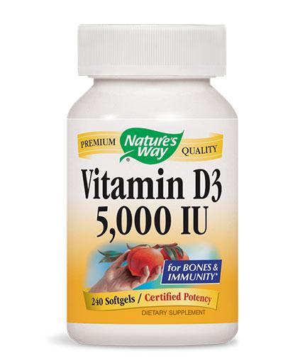 natures-way Vitamin D3 5000 IU / 240 Soft.