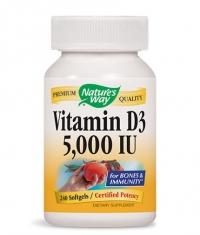 NATURES WAY Vitamin D3 5000 IU / 240 Soft.
