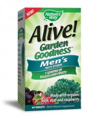 NATURES WAY Alive Garden Goodness Men's Multi-Vitamin / 60 Tabs.