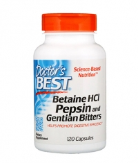 DOCTOR\'S BEST Betaine HCL Pepsin and Gentian Bitters / 120 Caps.