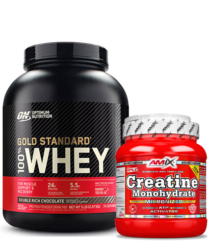 PROMO STACK ON 100% Whey Gold Standard 5 Lbs. / Amix Creatine Monohydrate 500g