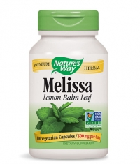 NATURES WAY Melissa Lemon Balm Leaf 500mg. / 100 Vcaps.
