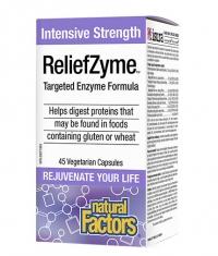 NATURAL FACTORS ReliefZyme / 45 Vcaps.