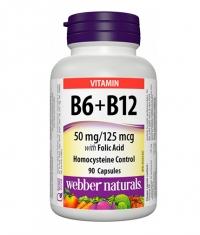 WEBBER NATURALS Vitamin B6 + B12 with Folic Acid / 90 Caps.