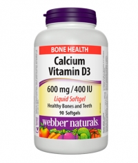 WEBBER NATURALS Calcium with Vitamin D3 / 90Caps.