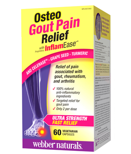 webber-naturals Osteo Gout Pain Relief with InflamEase / 60Vcaps.