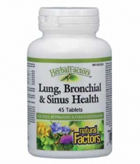 NATURAL FACTORS LUNG, BRONCHIAL AND SINUS HEALTH 45 Tabs.