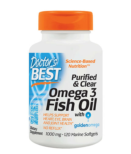 doctors-best Purified & Clear Omega 3 Fish Oil 1000mg. / 120 Soft.