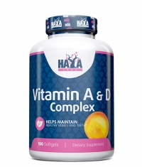 HAYA LABS Vitamin A & D Complex 100 Softgels