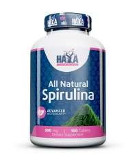HAYA LABS All Natural Spirulina 500mg. / 100 Vtabs.