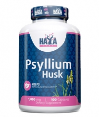 HAYA LABS Psyllium Husks 1000mg. / 100 Vcaps.