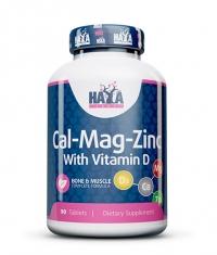 HAYA LABS Calcium Magnesium & Zinc with Vitamin D 90 Tabs.