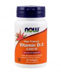 NOW Vitamin D-3 2000 IU / 30Softgels.