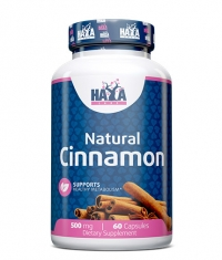 HAYA LABS Organic Cinnamon 500mg / 60 caps.