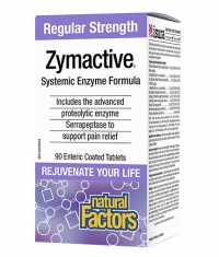 NATURAL FACTORS Zymactive Regular Strength / 90 Tabs.