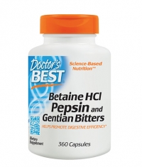DOCTOR\'S BEST Betaine HCL Pepsin and Gentian Bitters / 360 Caps.