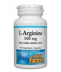 NATURAL FACTORS L-Arginine 500mg. / 90 Vcaps.
