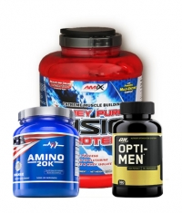 PROMO STACK Amix Whey Pure Fusion 5 Lbs. + ON Opti-Men 180 Caps. + Mex Amino 20k